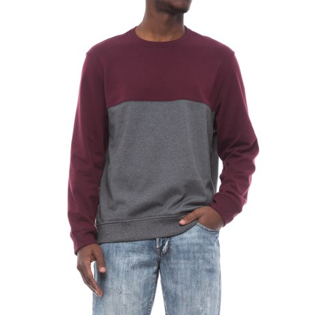 Specially made Lightweight Two-Tone High-Performance Sweatshirt (For Men) in Burgundy/Grey Heather