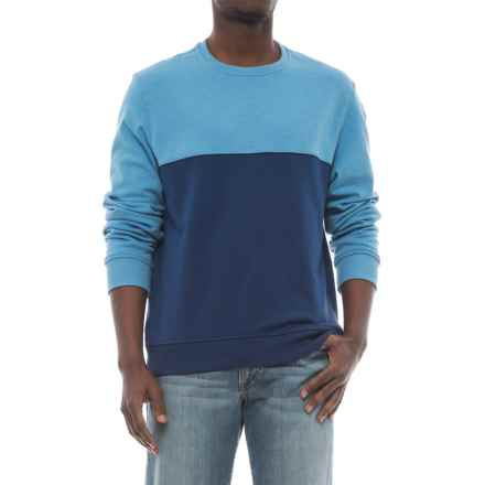 Specially made Lightweight Two-Tone High-Performance Sweatshirt (For Men) in Light Blue/Navy - 2nds