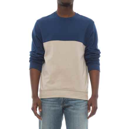 Specially made Lightweight Two-Tone High-Performance Sweatshirt (For Men) in Navy Granite/Oatmeal - 2nds