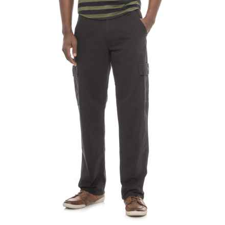 Specially made Loose Fit Cargo Pants (For Men) in Black - Closeouts