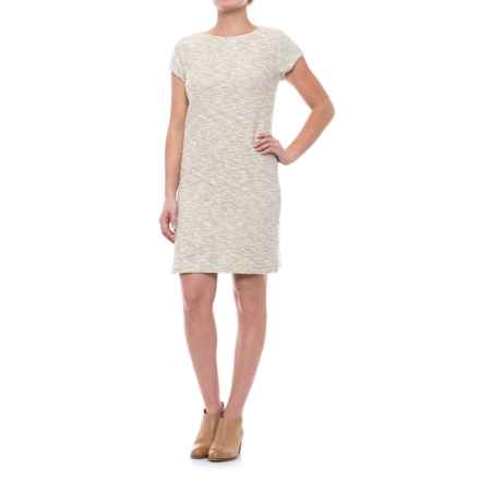 Specially made Metallic Stripe Dress - Short Sleeve (For Women) in Heather Grey - 2nds