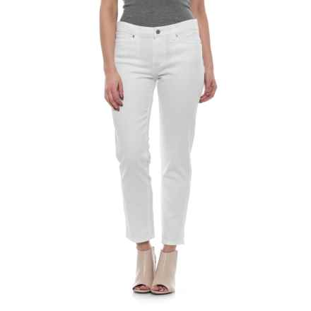 Specially made Modern Straight Crop Pants (For Women) in White - 2nds