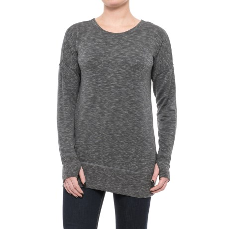 Specially made Open-Back Shirt - Long Sleeve (For Women) in Charcoal