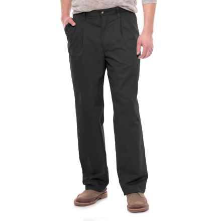 Specially made Pleated Twill Pants (For Men) in Black - 2nds