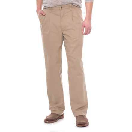 Specially made Pleated Twill Pants (For Men) in Khaki - 2nds