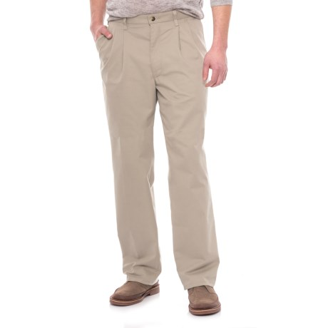 Specially made Pleated Twill Pants (For Men) in Light Tan