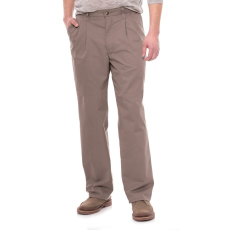 Specially made Pleated Twill Pants (For Men) in Taupe