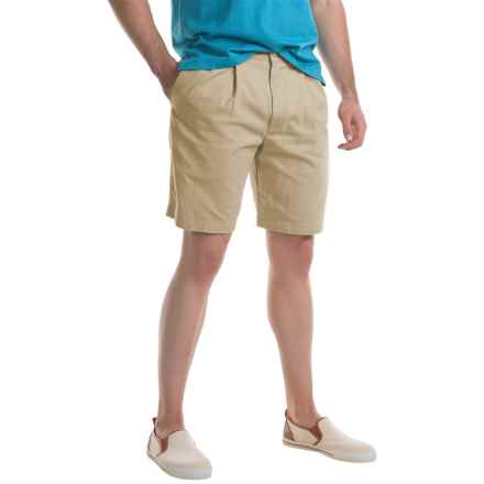 Specially made Pleated Twill Shorts (For Men) in Khaki - Closeouts