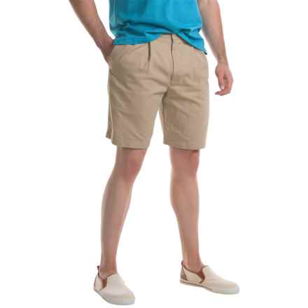 Specially made Pleated Twill Shorts (For Men) in Sand - Closeouts