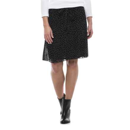 Specially made Print Midi Skirt - Fully Lined (For Women) in Black Print - 2nds