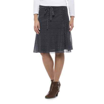 Specially made Print Midi Skirt - Fully Lined (For Women) in Navy Print - 2nds