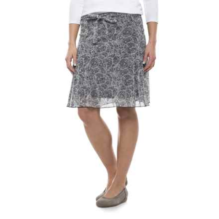 Specially made Print Midi Skirt - Fully Lined (For Women) in White Print - 2nds