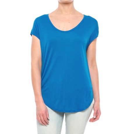 Specially made Rayon Shirt - Short Sleeve (For Women) in Blue