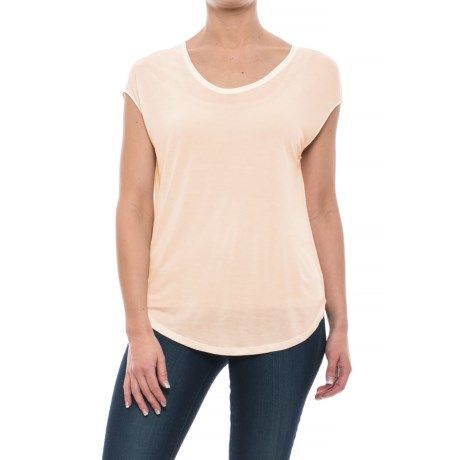 Specially made Rayon Shirt - Short Sleeve (For Women) in Pink