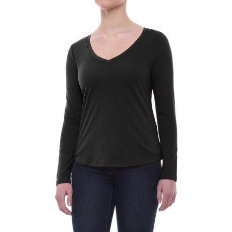 Specially made Relaxed V-Neck Shirt - Long Sleeve (For Women)