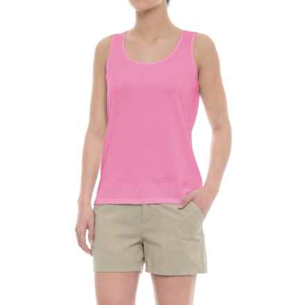 Specially made Scalloped Edge Tank Top - Cotton-Modal (For Women) in Pink - 2nds