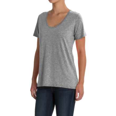Specially made Scoop Neck T-Shirt - Short Sleeve (For Women) in Grey - 2nds