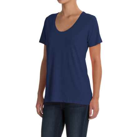 Specially made Scoop Neck T-Shirt - Short Sleeve (For Women) in Navy - 2nds