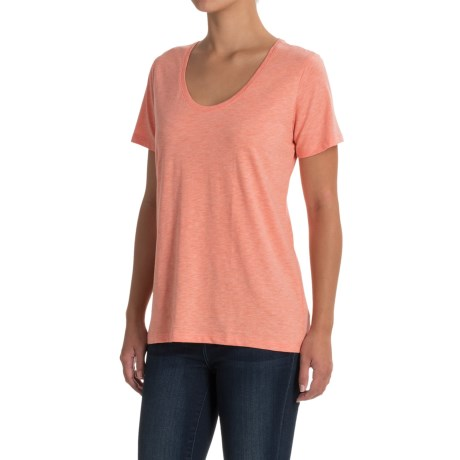 Specially made Scoop Neck T-Shirt - Short Sleeve (For Women) in Orange