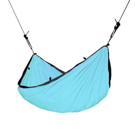 Specially made Single Travel Hammock with Integrated Suspension in Turquoise - Closeouts