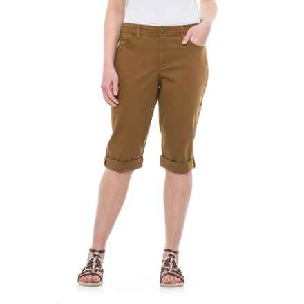 Specially made Skimmer Cuffed Bermuda Shorts (For Women) in Brown - 2nds