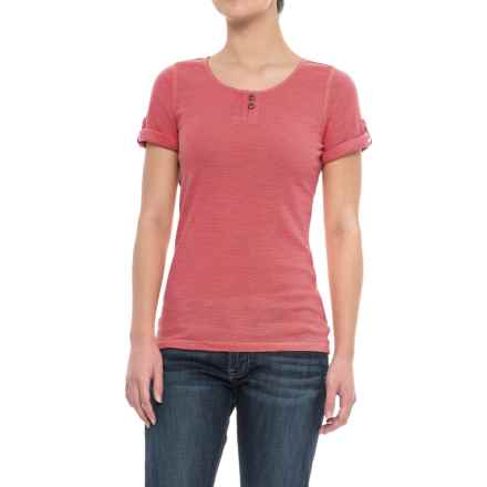 Specially made Sleeve-Tab Shirt - Short Sleeve (For Women) in Coral - 2nds