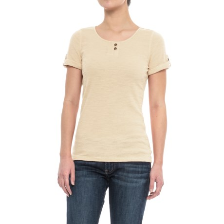 Specially made Sleeve-Tab Shirt - Short Sleeve (For Women) in Ivory