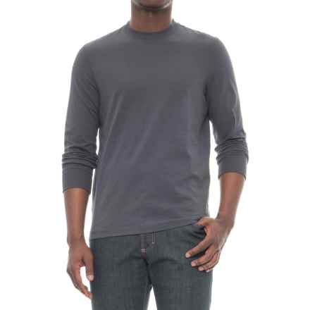 Specially made Slim Fit T-Shirt - Long Sleeve (For Men) in Dark Grey - Closeouts