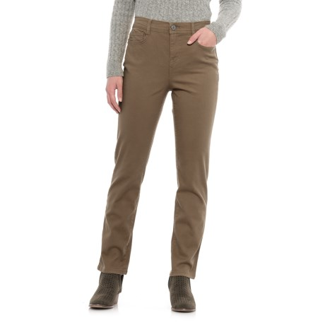 Specially made Slim-Leg Colored Jeans (For Women) in Taupe