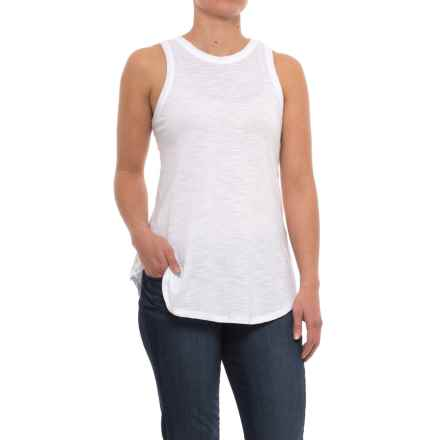 Specially made Slub-Knit Cotton Tank Top (For Women) in Whtie - 2nds