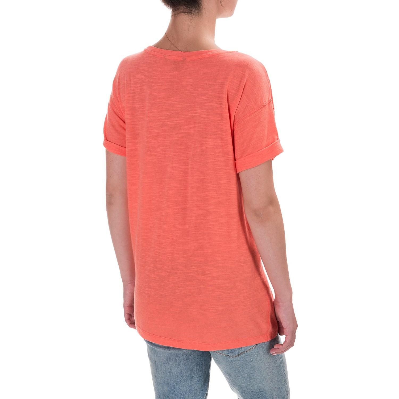 Specially made slub knit cuffed sleeve shirt for women for What is a slub shirt