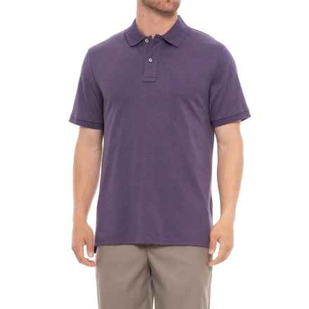 Specially made Soft Cotton Polo Shirt - Short Sleeve (For Men) in Heather Purple - Closeouts