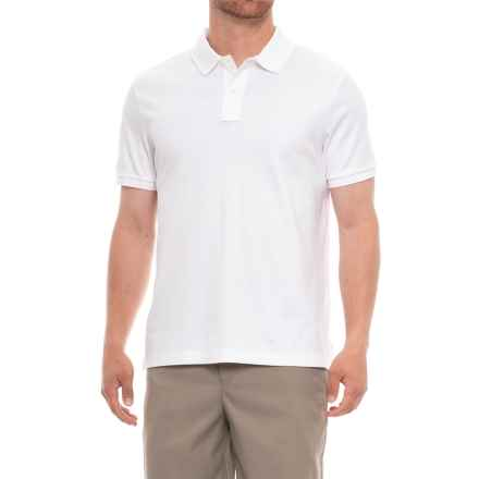 Specially made Soft Cotton Polo Shirt - Short Sleeve (For Men) in White - Closeouts