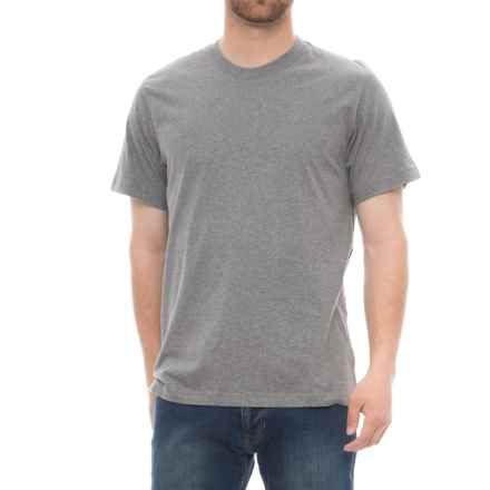 Specially made Solid Cotton T-Shirt - Short Sleeve (For Men) in Grey Heather - Closeouts