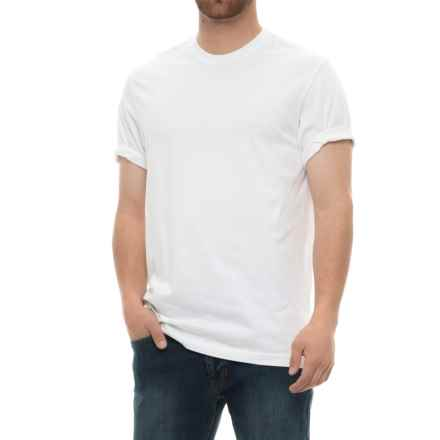 Specially made Solid Cotton T-Shirt - Short Sleeve (For Men) in White - Closeouts