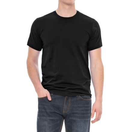 Specially made Solid Crew Neck T-Shirt - Short Sleeve (For Men) in Black - 2nds