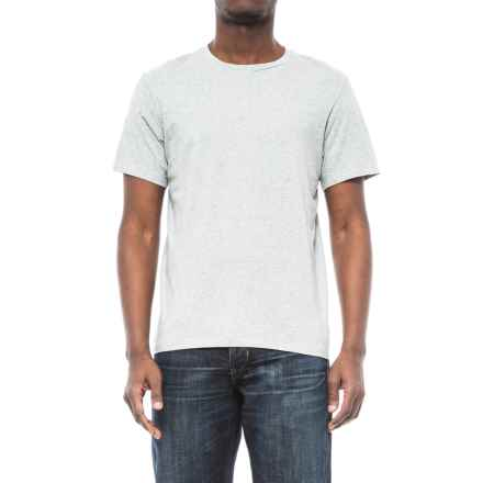 Specially made Solid Crew Neck T-Shirt - Short Sleeve (For Men) in Grey Heather - 2nds