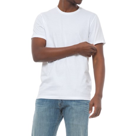Specially made Solid Crew Neck T-Shirt - Short Sleeve (For Men) in White