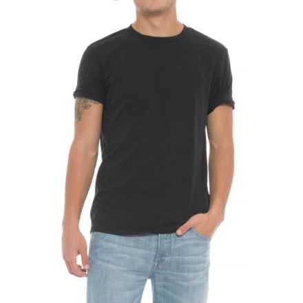 Specially made Solid Crew T-Shirt - Short Sleeve (For Men) in Black - Closeouts
