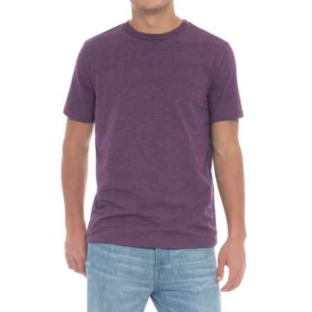 Specially made Solid Crew T-Shirt - Short Sleeve (For Men) in Purple - Closeouts