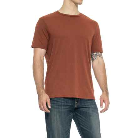 Specially made Solid Crew T-Shirt - Short Sleeve (For Men) in Rust Heather - Closeouts