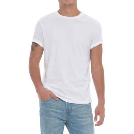Specially made Solid Crew T-Shirt - Short Sleeve (For Men) in White - Closeouts
