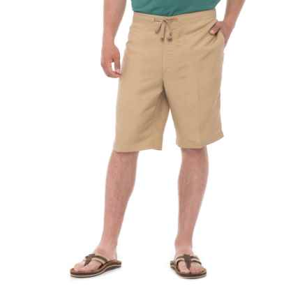 Specially made Solid Drawstring Shorts (For Men) in Cornstalk - Overstock