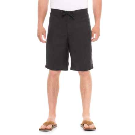 Specially made Solid Drawstring Shorts (For Men) in Jet Black - Overstock