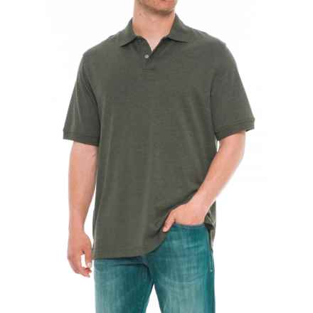 Specially made Solid Heather Polo Shirt - Short Sleeve (For Men) in Green - Overstock