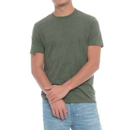 Specially made Solid Heathered T-Shirt - Short Sleeve (For Men) in Fatigue - Closeouts