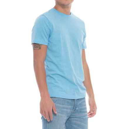 Specially made Solid Heathered T-Shirt - Short Sleeve (For Men) in Light Blue - Closeouts