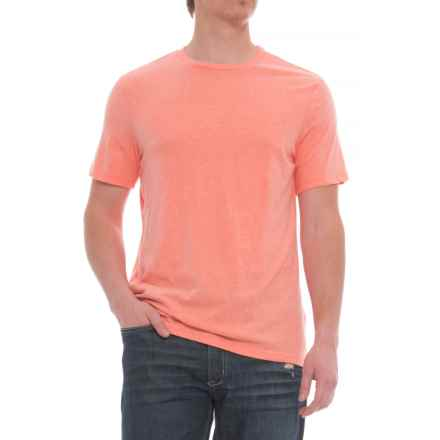 Specially made Solid Heathered T-Shirt - Short Sleeve (For Men) in Peach - Closeouts