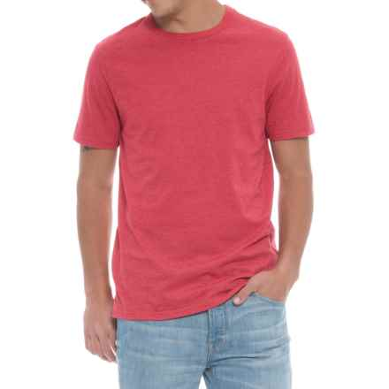Specially made Solid Heathered T-Shirt - Short Sleeve (For Men) in Red - Closeouts