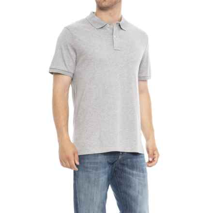 Specially made Solid Knit Polo Shirt - Short Sleeve (For Men) in Grey - Closeouts